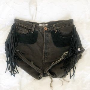 One Teaspoon Fringe Jean Shorts (Vintage)